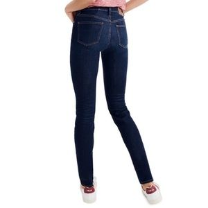 "Madewell 9"" High Rise Skinny Jeans Dark Blue Wash"